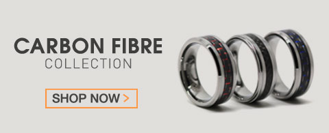 Carbonfibre mens rings