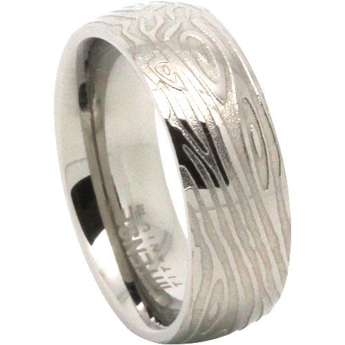 Woodgrain Titanium Ring