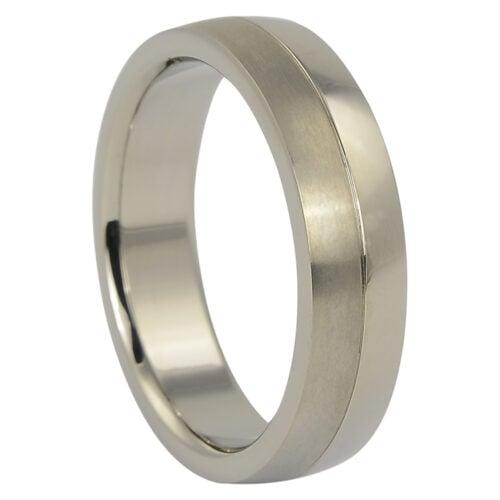 Titanium Dual Tone Mens Ring