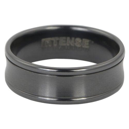 Solid Tru Black Titanium Mens Ring