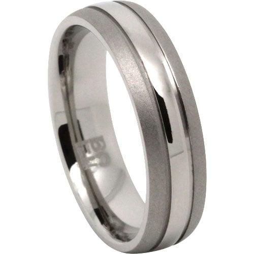 Dual Tone Titanium Mens Ring