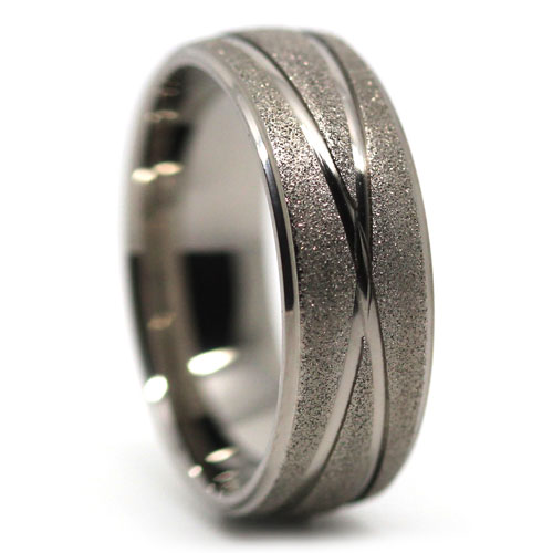 unique sandblast finish s titanium wedding ring