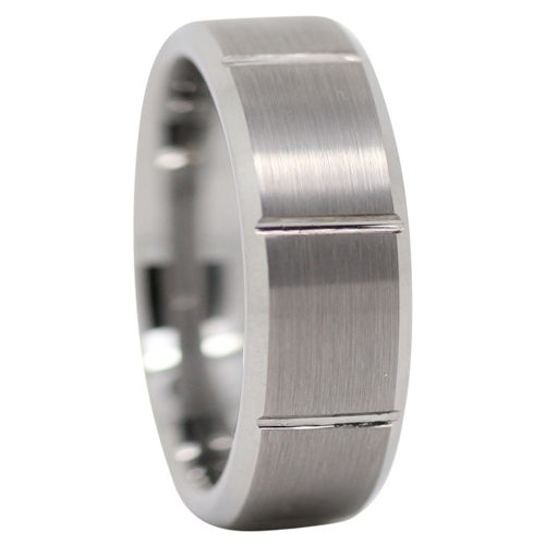 Brushed Tungsten Mens Wedding Band