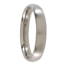4mm Brushed Titanium Mens Ring
