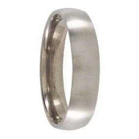 Brushed Titanium Mens Wedding Ring