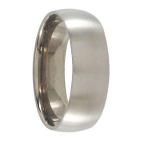 Satin 7mm Titanium Mens Ring