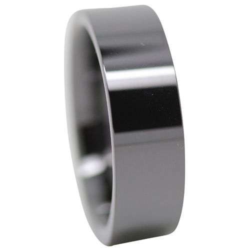 Polished Ceramic Mens Ring