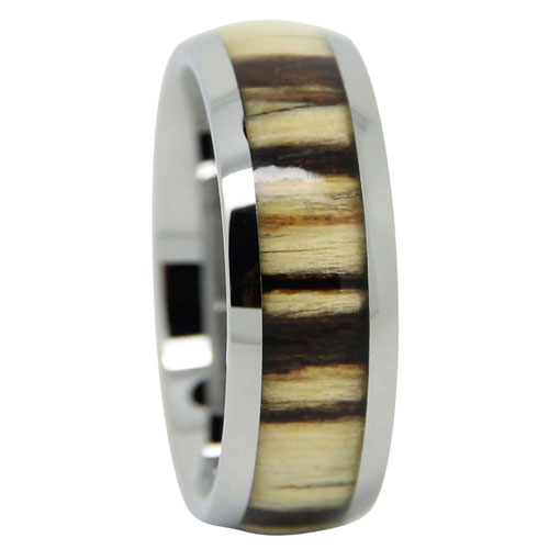 Koa Wood Tungsten Ring