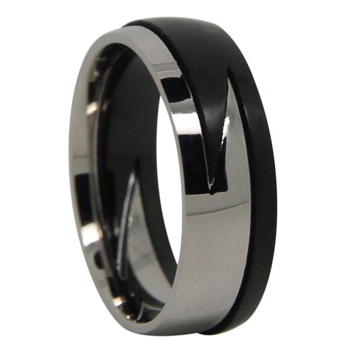 Two Piece Titanium Lightning Ring