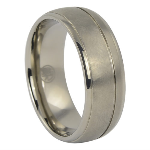 "IRounded ""Comet"" Titanium Mens Ring"