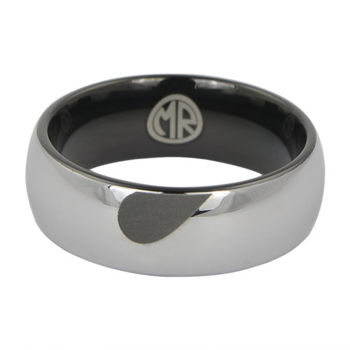 Tungsten Heart Mens Promise Ring