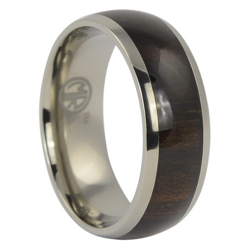 Titanium and Ebony Mens Ring