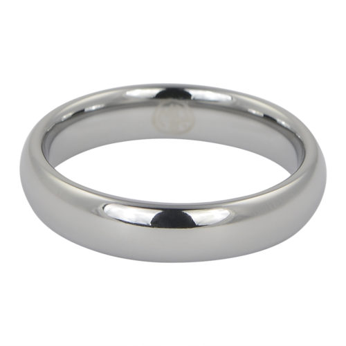 Polished Dome Mens Thin Tungsten Ring